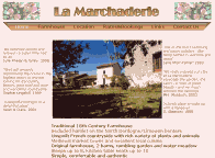 La Marchaderie's Website Screenshot